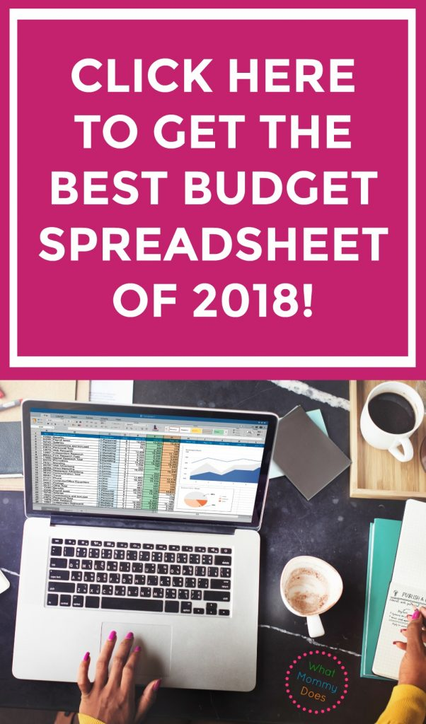 best budget spreadsheet for 2018 what mommy does