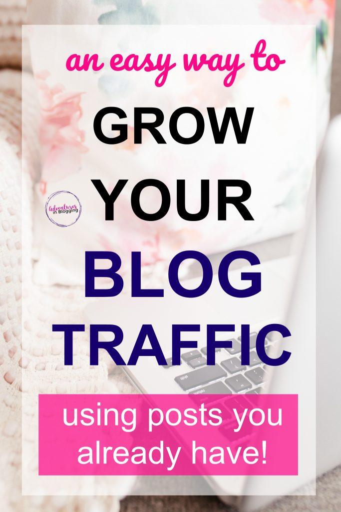 I learned this strategy from watching how professional bloggers managed to get lots of blog traffic without trying very hard. It's wayyyyy easier than you think to grow your blog using blog posts you already have. This works especially well on Pinterest! Grab this guide while it's still available. You can learn how to get more traffic within minutes and implement the tips today! | make money blogging, awesome blogging tips