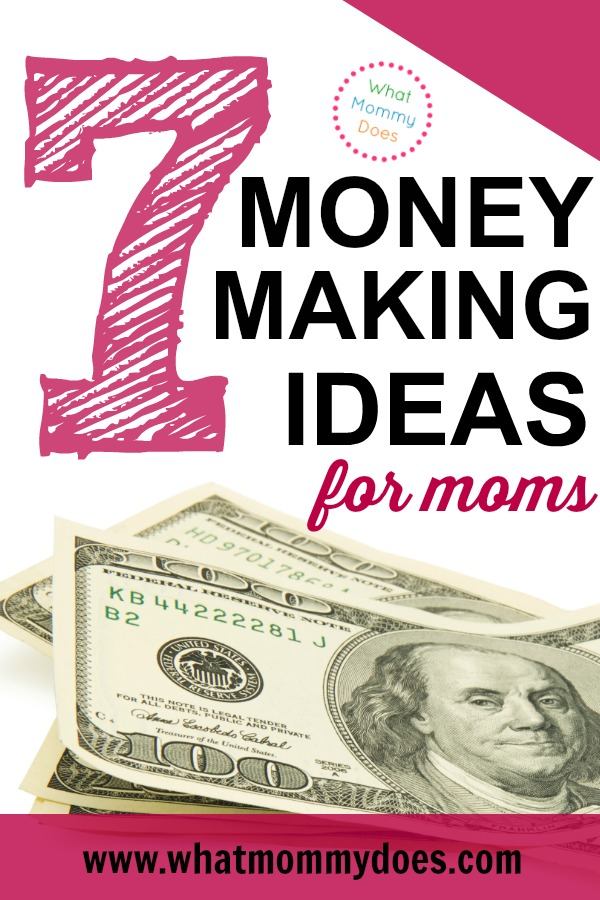 This is the perfect list of money making ideas for stay-at-home-moms! It's easy to get overwhelmed with by all the ways to make extra money. This is a good place to start! Here are 7 easy ways to make $200, $500, or even $1000+ extra per month for your family. These are simple but effective side job ideas with thoughtful explanations so you can consider whether or not these are ways you could earn some income. | monthly income boost, home business examples