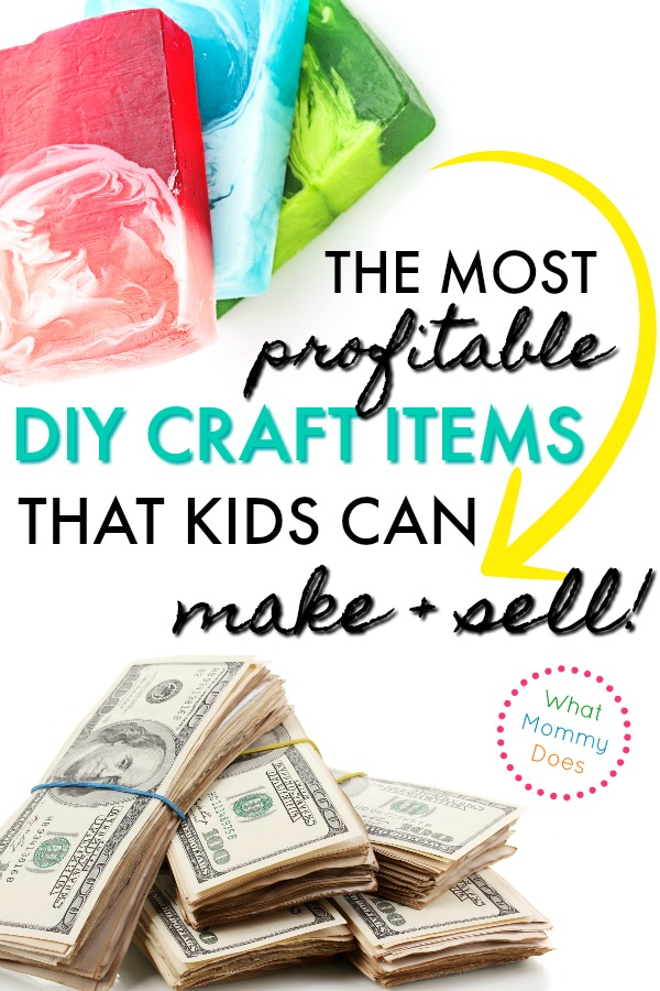 17 Best Things for KIDS to Make and Sell! A great list of things to make and sell at school events or craft fairs…all easy ideas anyone can do, from young kids to tweens to teens. Part of a series on ways to make extra money from home. | easy DIY projects to make money, essential oil & bath bomb ideas + best selling items! #moneymakingideas #makemoney #extracash