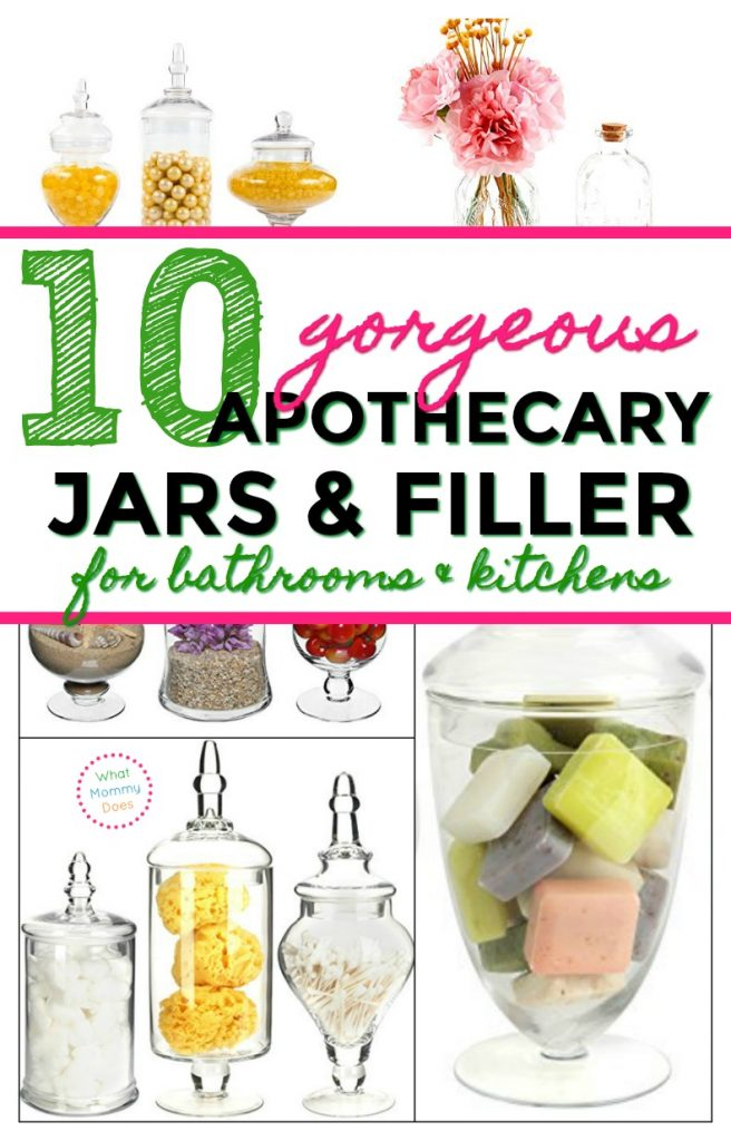 Look no futher for GORGEOUS APOTHECARY JARS! Here are the types of jars you can get + a good list of apothecary jar filler ideas for your kitchen counter and bathroom.