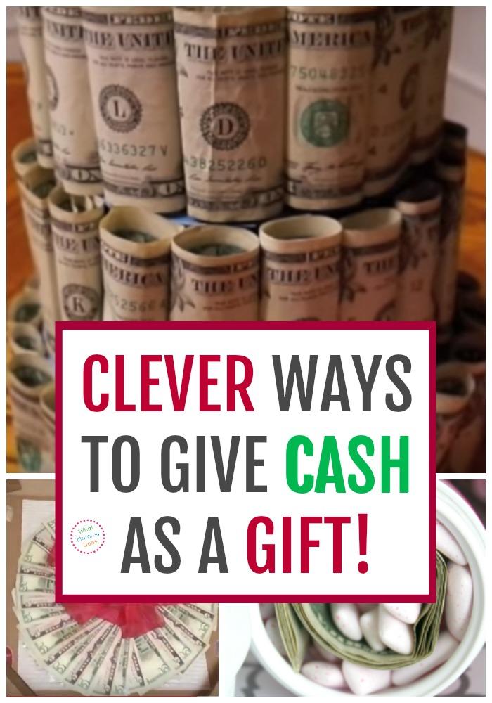 money cake, dollar bill pizza, and hidden cash Christmas gift, birthday, OR graduation ideas
