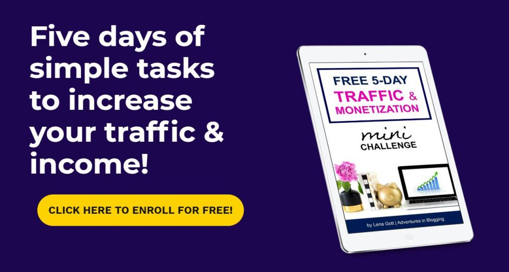 learn how to increase your traffic significantly in just five days with this FREE mini challenge!