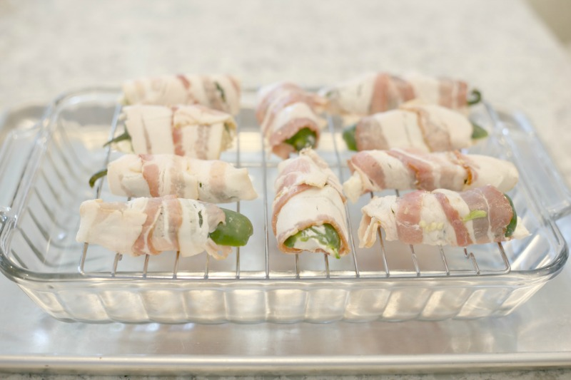 baking tray of jalapeno poppers - so easy to make for the holidays