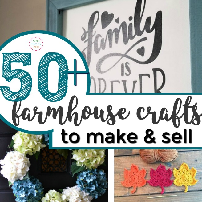 If you're looking for amazing craft projects to make and sell at flea markets or craft fairs, this is the best list!! Farmhouse crafts are the way to go right now! Rustic ideas, easy spring or fall or even Christmas home decor too!
