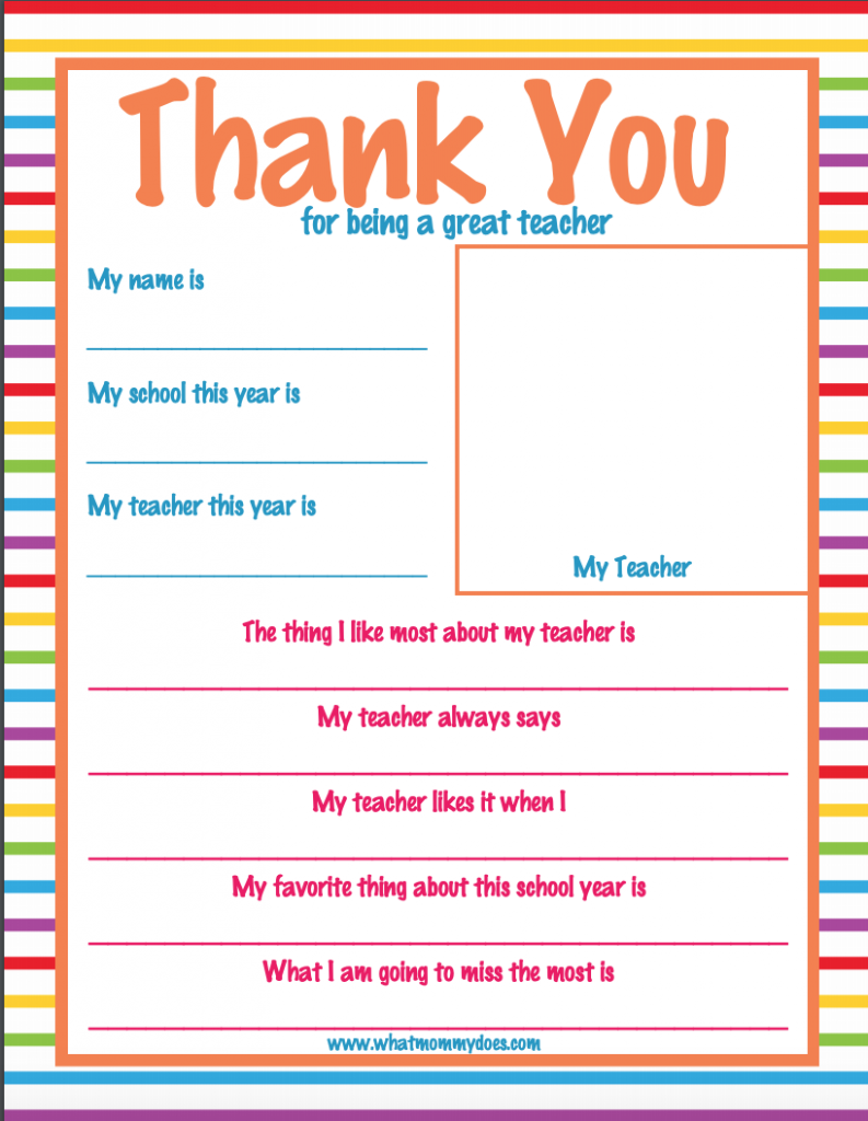 photo about Printable Thank You Cards for Teacher called Cost-free Printable Thank Yourself Composing Paper - Floss Papers