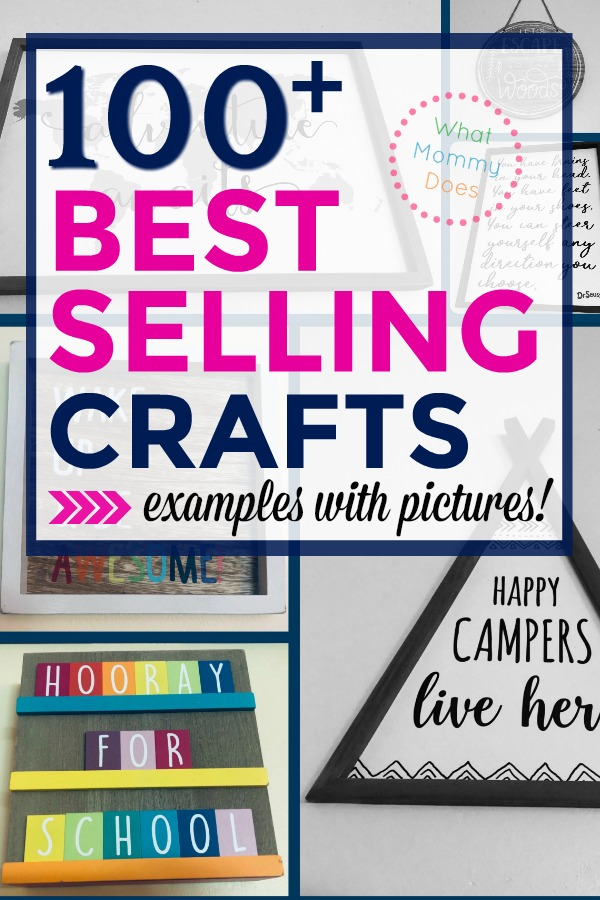 100+ Hottest Crafts to Make and Sell! An incredible list of things to make and sell…super easy ideas anyone can do, even kids and teens. New series on ways to make extra money from home as a stay-at-home-mom!