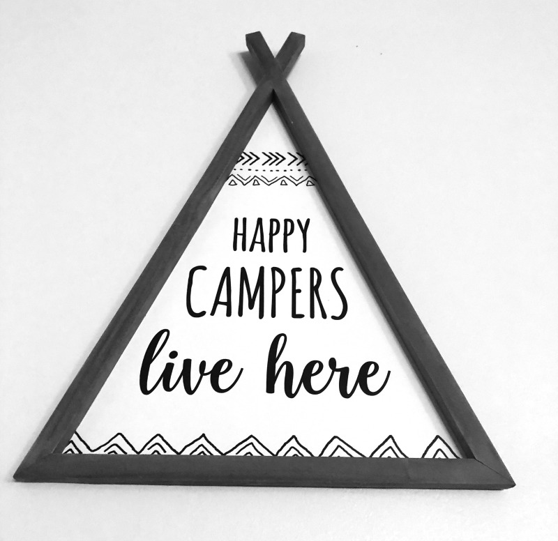 Cute Camping Sign - DIY Rustic Wall Art for Sale