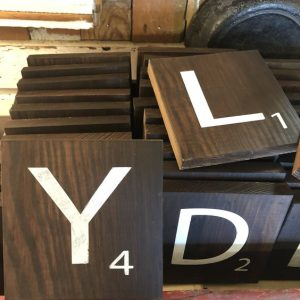 Oversized Scrabble Tiles for Gallery Wall Projects