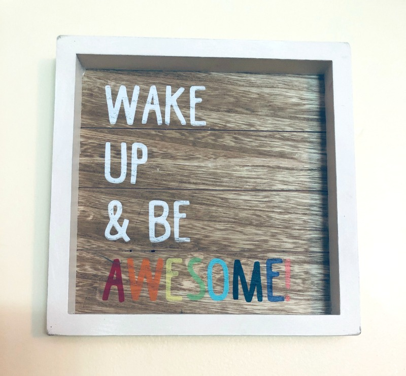 Art you can sell for extra cash - CUTE Wake Up & Be Awesome Sign! | List of 100+ Money Making Crafts